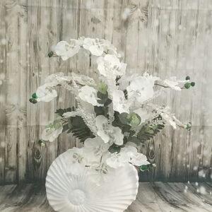 ısparta seramik vazoda yapay orkide