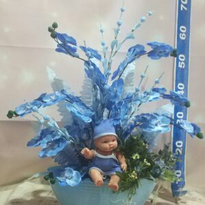 Isparta çiçekçi mavi erkek bebek yapay çiçek
