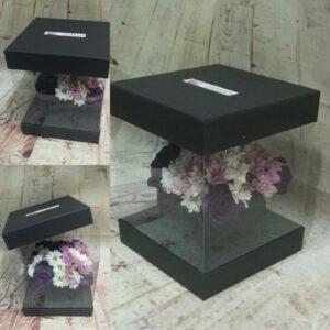 ısparta şeffaf kutuda renkli mevsim çiçekleri
